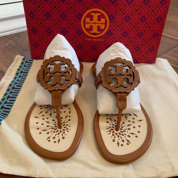 4f58c65c9 Tory Burch Shoes | Miller Scalloped Sandals | Poshmark